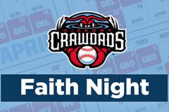 Hickory Crawdads Faith Night