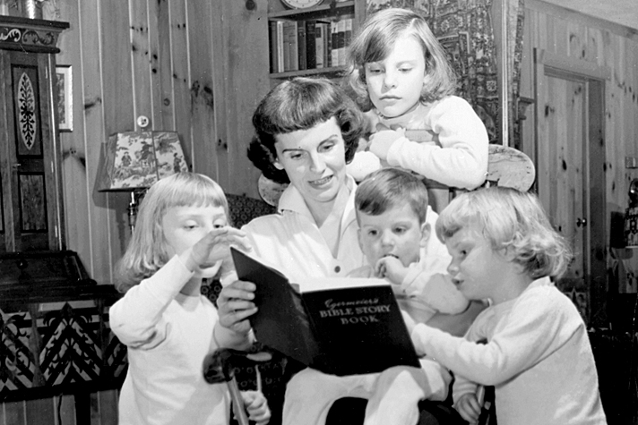 Ruth Graham with kids