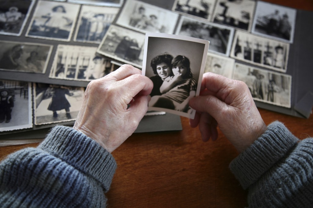 looking at old photographs
