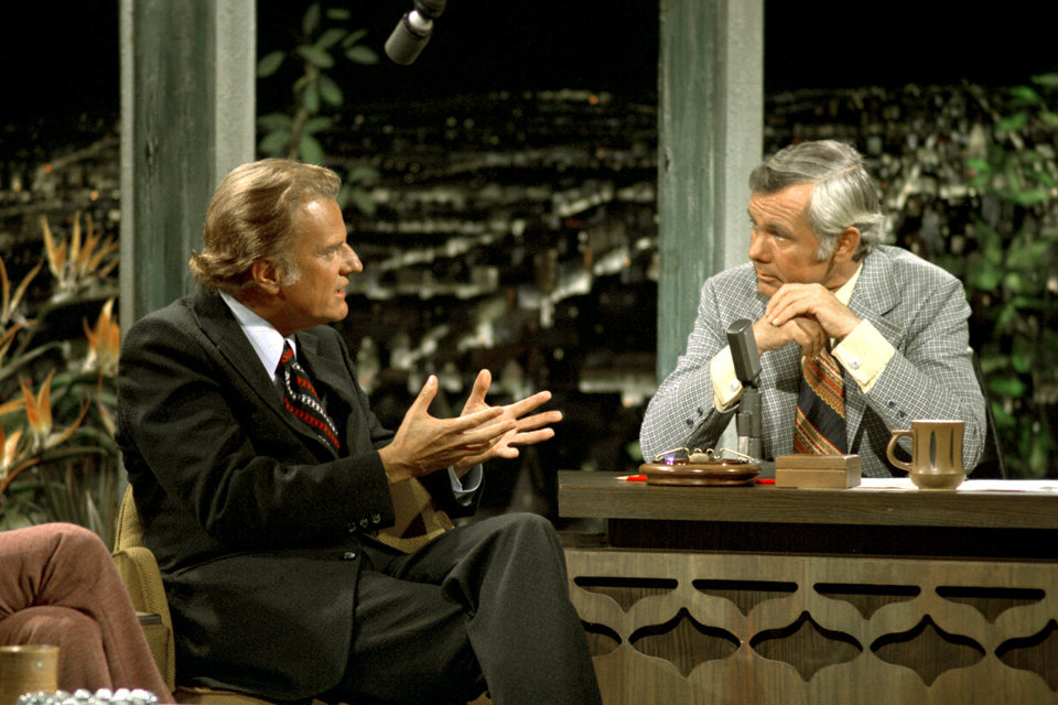 Billy Graham with Johnny Carson