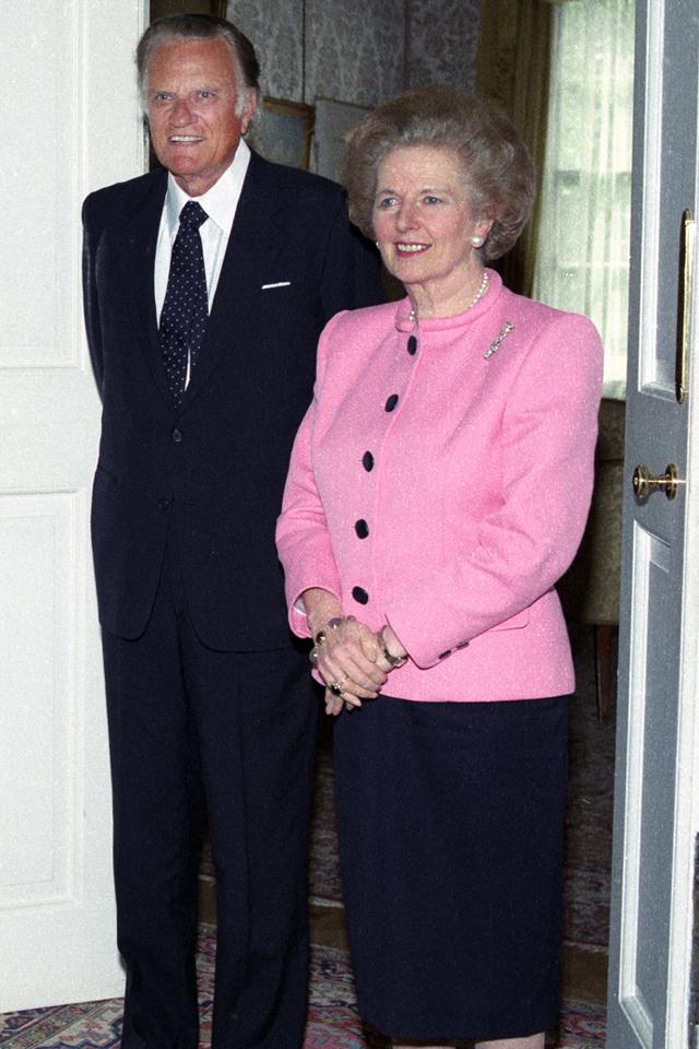 Billy Graham and Margaret Thatcher