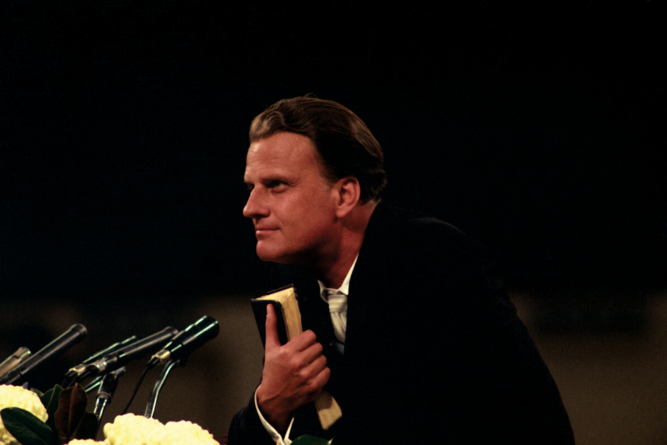 Billy Graham with Bible