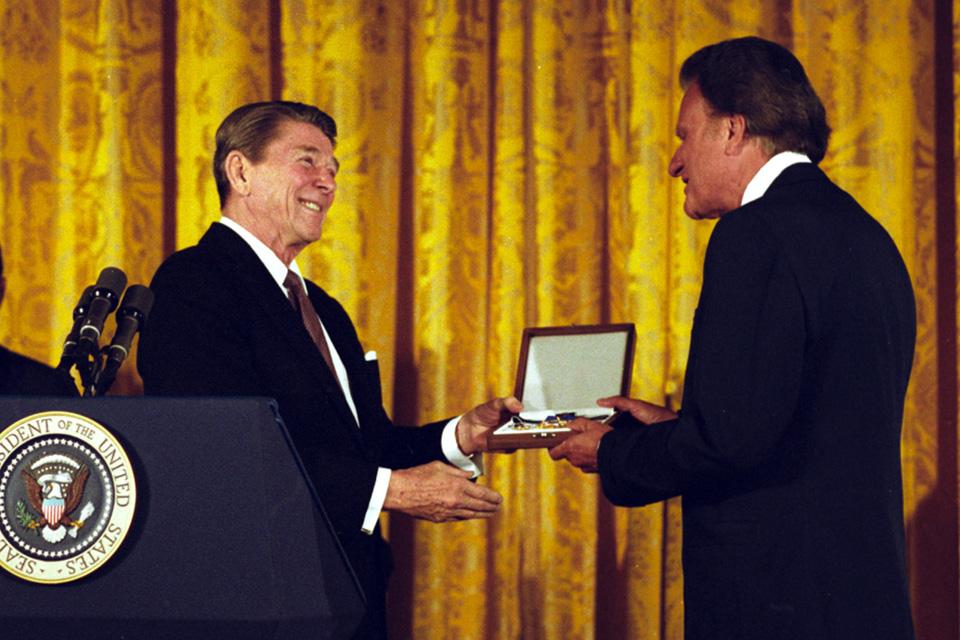 Receiving presidential medal