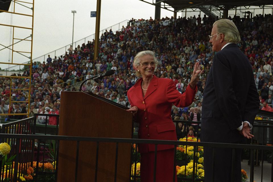 Ruth Graham at podium