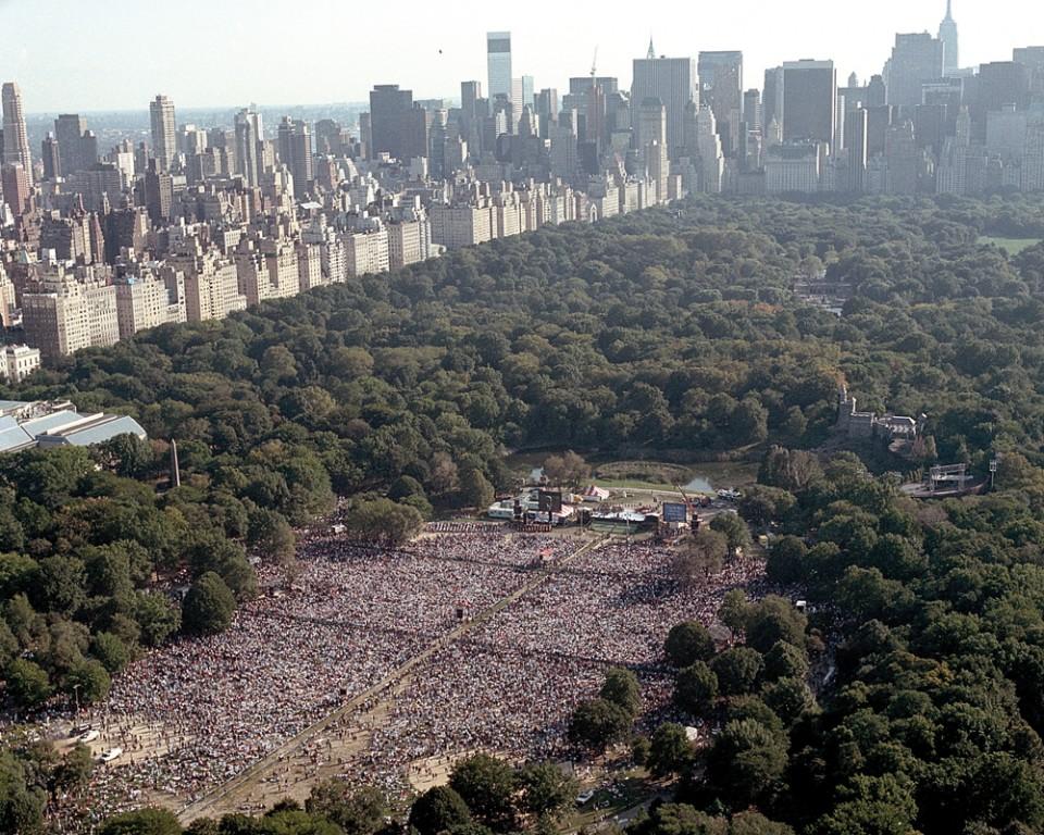 Central Park crowd