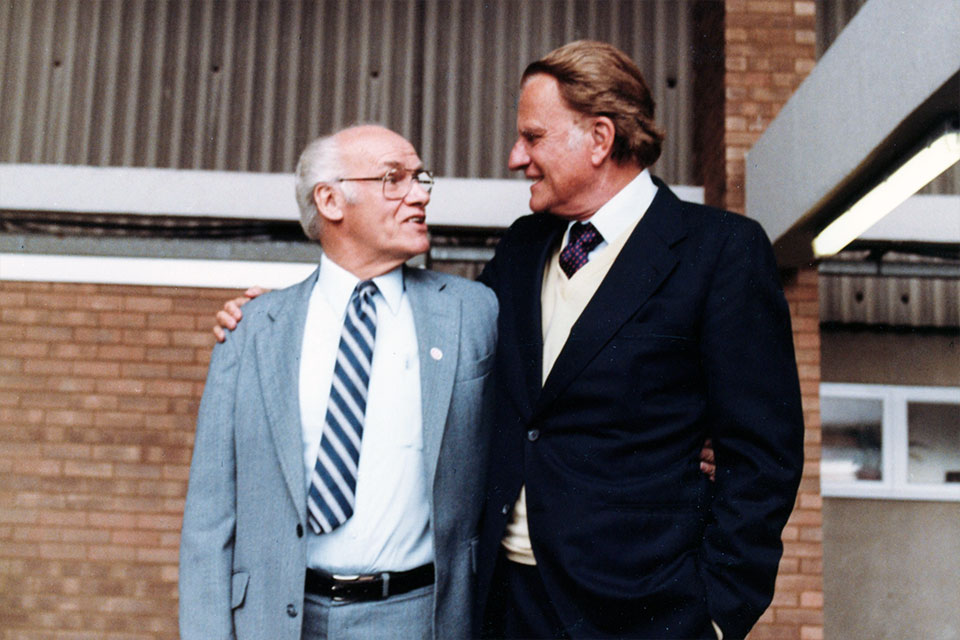 Charlie Riggs and Billy Graham