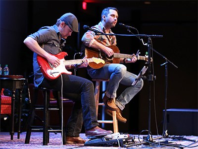 Brandon Heath (right) with guitarist Adam Lester