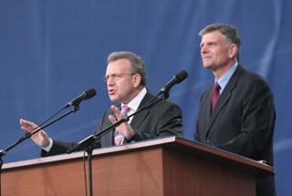 Franklin Graham and Viktor Hamm in Kiev
