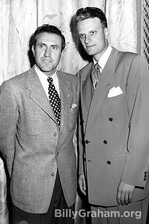 Louis Zamperini and Billy Graham first meet at the 1949 Los Angeles Crusade.