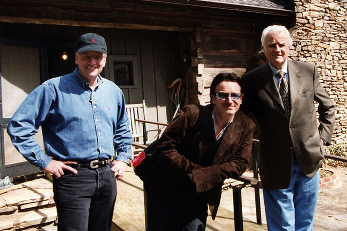Franklin Graham, Bono from U2, Billy Graham