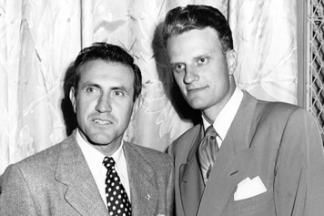 Louis Zamperini and Billy Graham