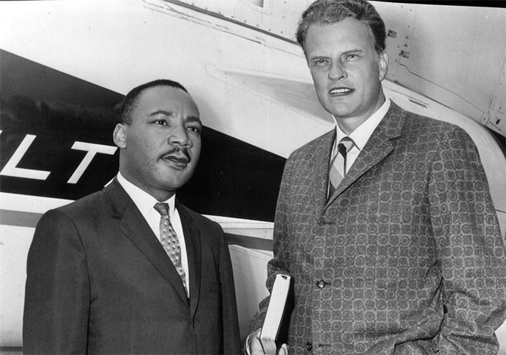 Martin Luther King Jr and Billy Graham