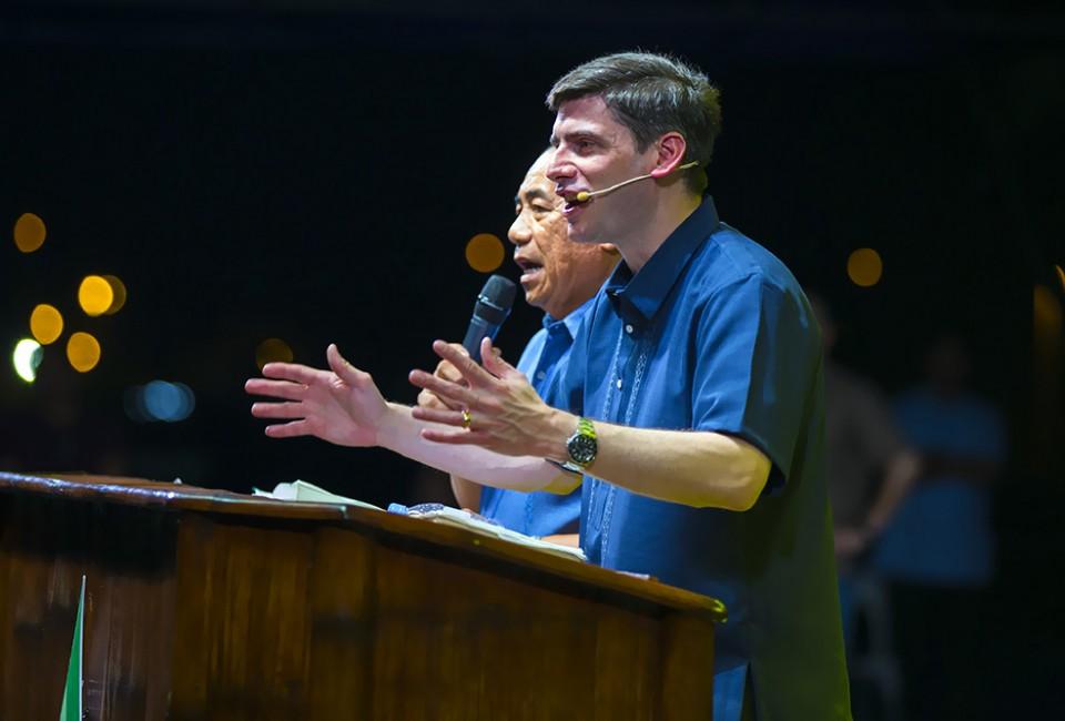 Will Graham with interpreter