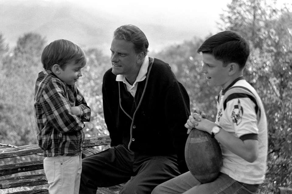 Billy Graham with sons