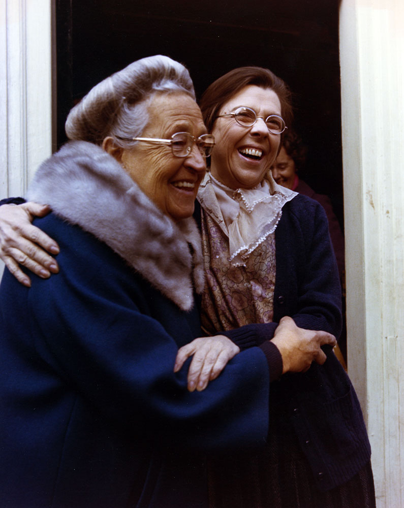 Corrie ten Boom and Jeannette Clift