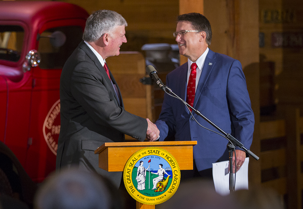 Franklin Graham and Governor Pat McCrory