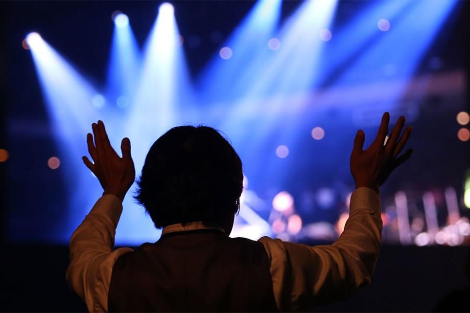 Man in worship