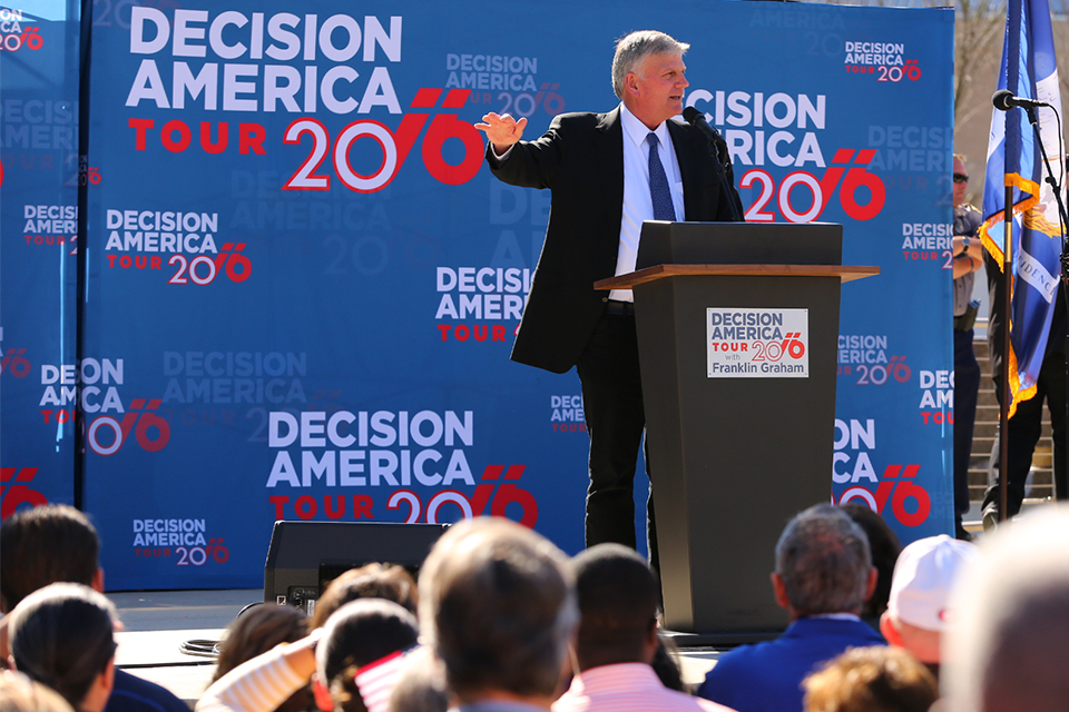 Franklin Graham said his grandchildren are a big reason he's doing the Decision America Tour.