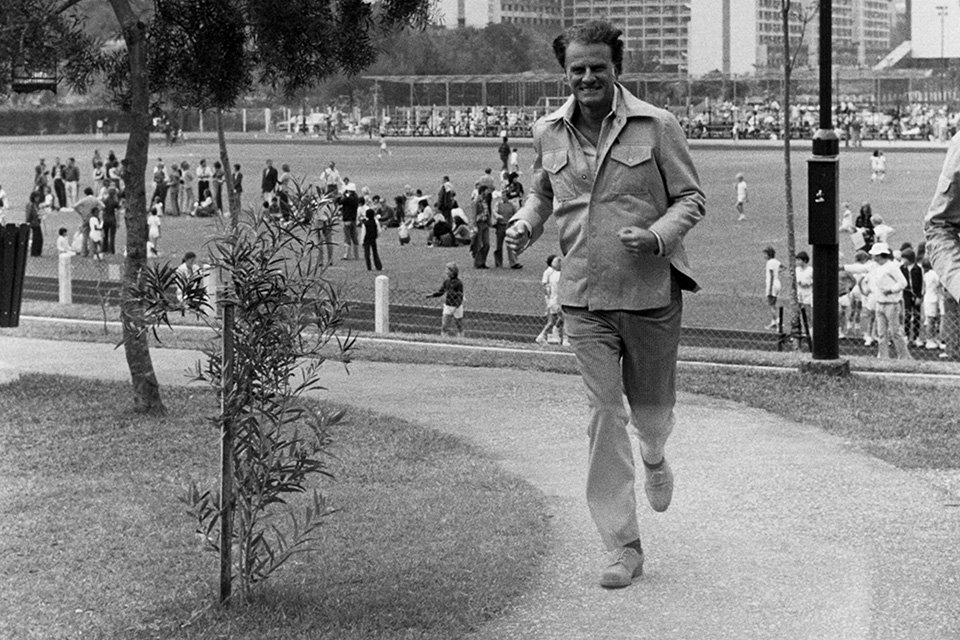 Billy Graham jogging