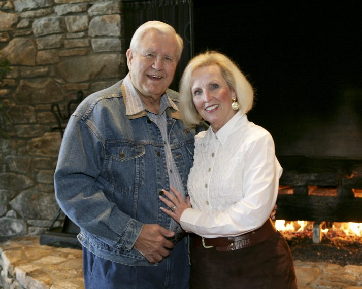 Cliff Barrows and his wife, Ann, in a 2007 photo. Mr. Barrows was married to his first wife, Billie, for nearly 50 years. God brought he and his second wife, Ann, together after they both lost their spouses to cancer.