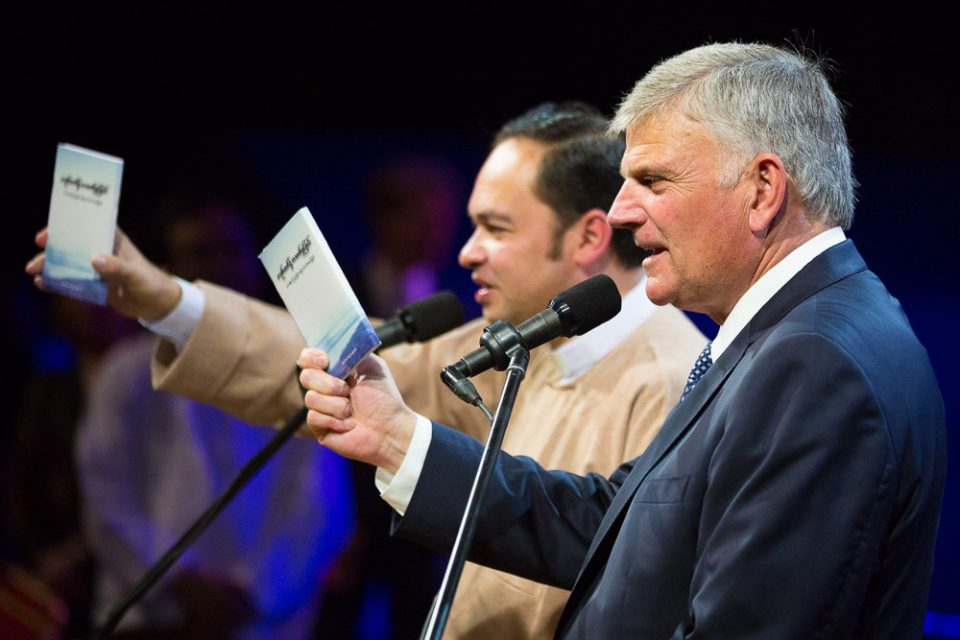 Franklin Graham with book