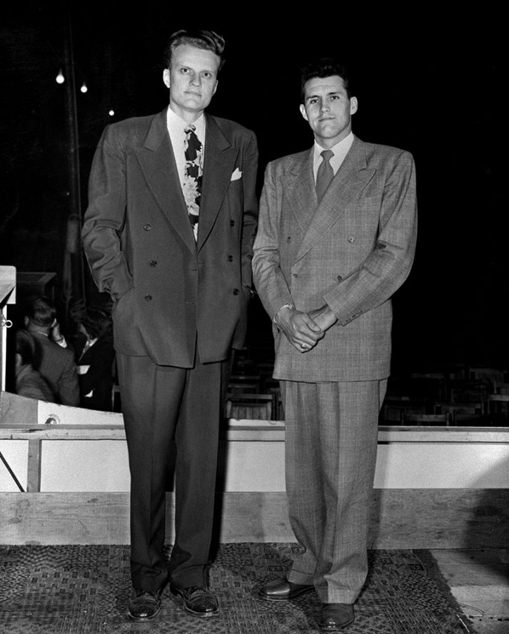 Cliff Barrows and Billy Graham in the late 1940s.
