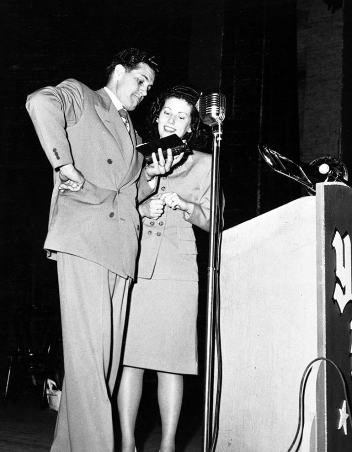 Cliff and Billie Barrows, mid-1940s.
