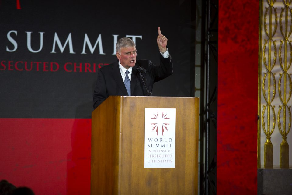 Franklin Graham speaking at World Summit