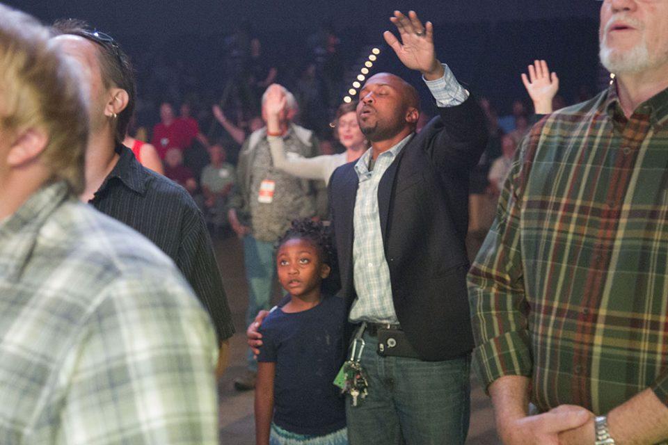 man worshiping