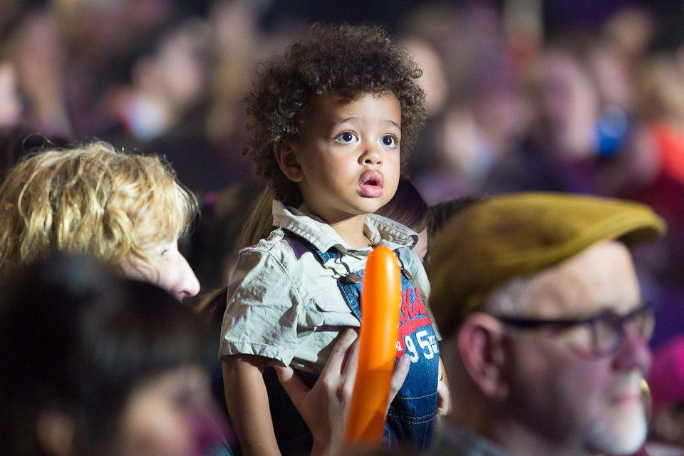 child with balloon animal