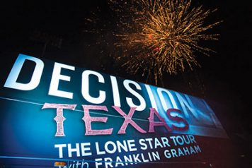Decision Texas tour bus and fireworks