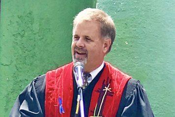 Bob Vale in ministry robe