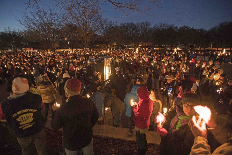 Much of the Richardson community at the candlelight vigil