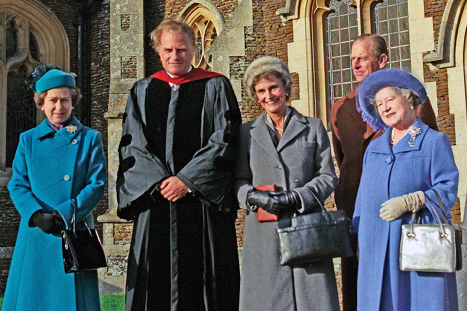Billy Graham with Queen Elizabeth and family