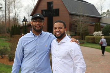 Fellow pastors and friends Darryl Stackhouse and Derry Haywood.