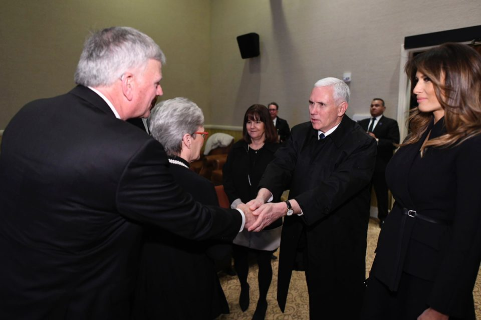 VP Mike Pence expresses condolences to Franklin Graham