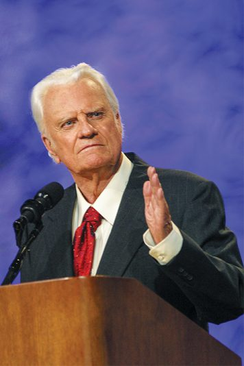 Billy Graham preaching
