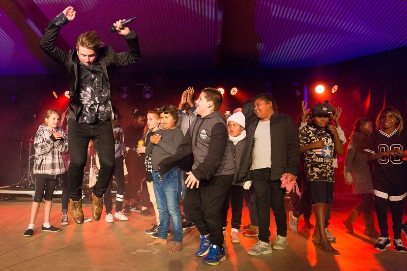 The Afters (band) jumping onstage with kids