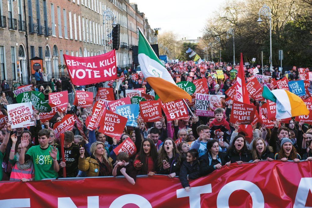 pro-life supporters in Ireland