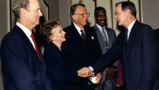Memories of Former President George H.W. Bush with the Grahams