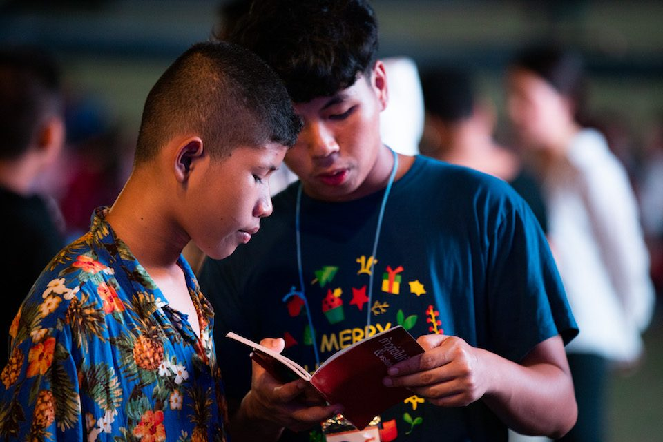Thai boys reading