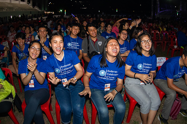 Young people in Thailand singing
