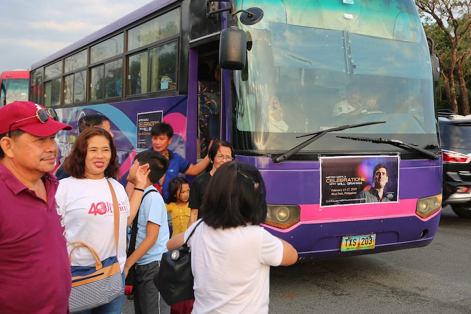 transportation to Metro Manila Celebration