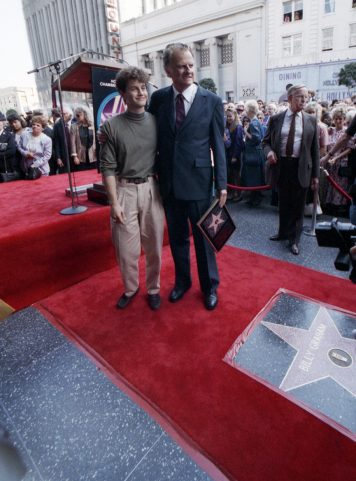 Kirk Cameron at Billy Graham's Hollywood Walk of Fame ceremony in 1989.