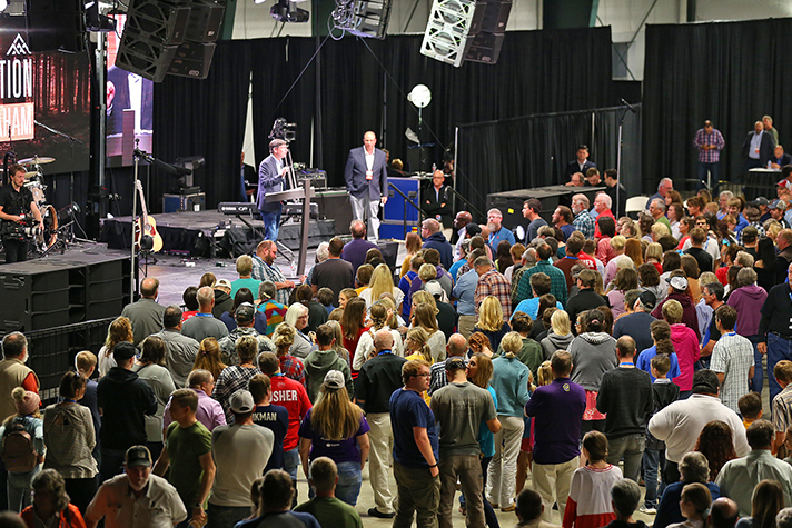 """""""For those that are hopeless tonight, God wants to give you hope,"""" Will Graham said during the invitation to receive Christ after preaching from 1 Samuel. """"He will give you meaning."""" The Big Sky Celebration continues Wednesday in Hamilton and Friday-Sunday in Great Falls. Watch next weekend at WillGrahamLive.com."""