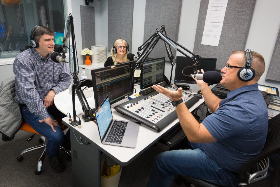 Before the Celebration, Will Graham did an interview with 102.3 FM UCB Belleville—a local Christian station. Radio hosts Mark and Rhonda McFaul spoke with him and later served as emcees at the Celebration.