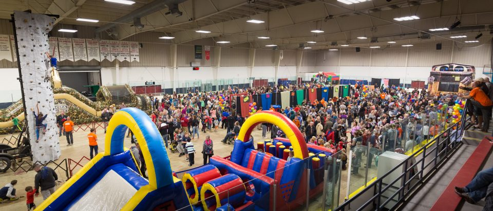 The weekend event started with KidzFest on Friday night. There were bouncy castles, games, a climbing wall and more, preceded by a Gospel message from Will Graham.