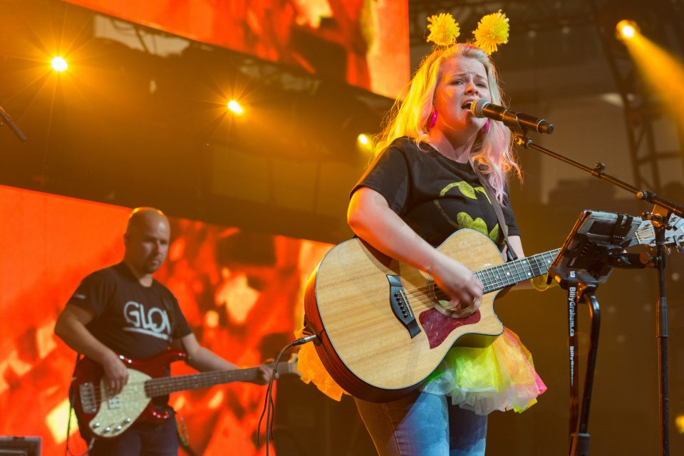 At Friday night's KidzFest, Angie Rogers and her band sang, danced and played guitar for more than 1,300 children and their families. A singer-songwriter, Rogers lives in eastern Canada and has been leading worship for 15 years. She's also been nominated for two MusicNL (Newfoundland and Labrador) awards.