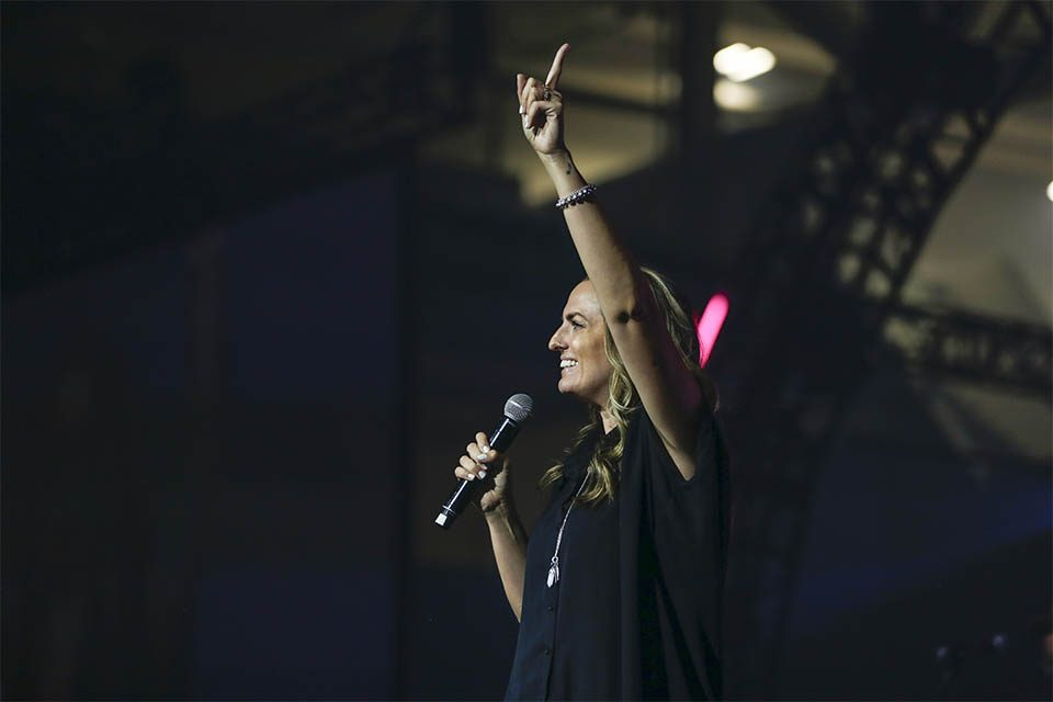 """Belleville, He is worthy of our praise tonight, isn't He?"" Brooke Nicholls asked the crowd. Although Nicholls is known as the 2019 GMA Canada Female Vocalist of the Year, the Ontario-based worship singer and songwriter started out the evening with a beautiful, humble attribution—giving all glory to God."