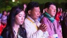 Cambodians Praying for Great Harvest at Historic Festival